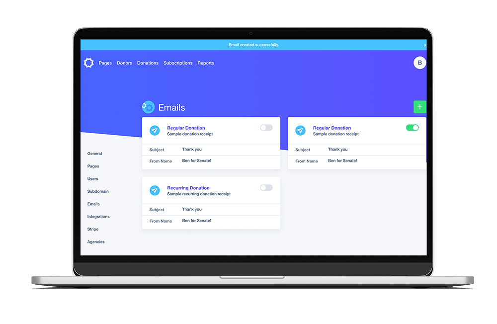 Revv Donation and Fundraising Dashboard